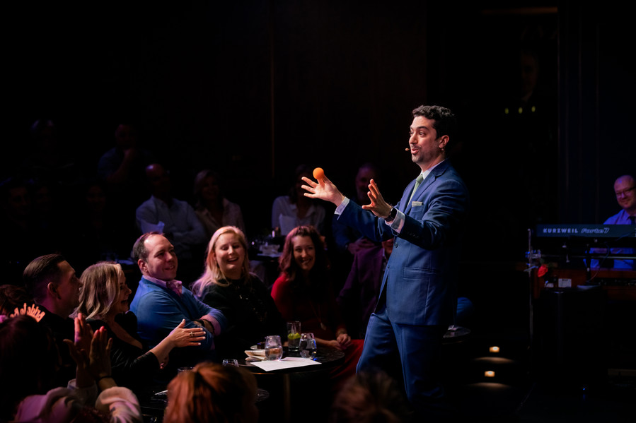 Magician Mister Danny Rudnick Performing on the Harry Blackstone Cabaret Stage at the Chicago Magic Lounge