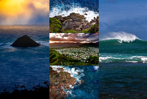 Oahu Cools - Set of Five Greeting Cards