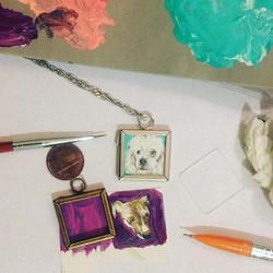 🐶💞🎨WEARABLE PUPPY ART🎨💞🐶_#coralynnarcandart #travelingartist #inthestudio #girlboss #artist #p