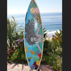 First board I ever painted #art #board #brushstokedboards #coralynnarcandart #danapoint #dowhatyoulo