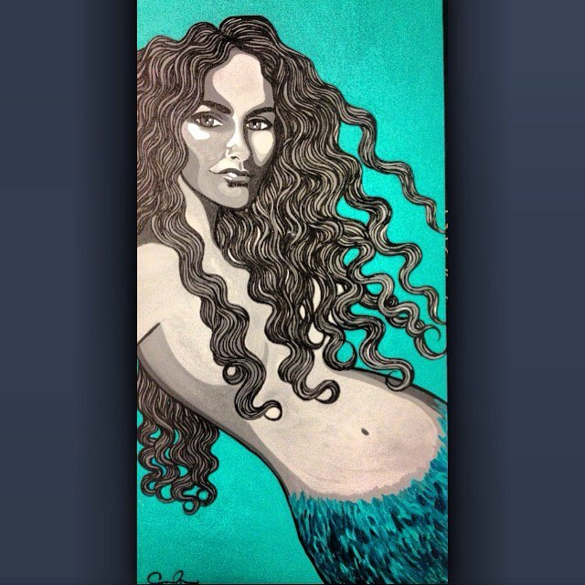 My beautiful _navahpaskowitzasner !  You are the dreamiest mermaid of all! 💞🌺_#coralynnarcandart #