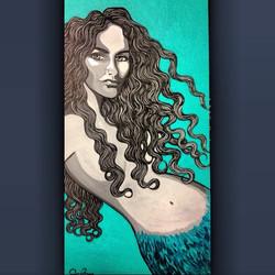 My beautiful _navahpaskowitzasner !  You are the dreamiest mermaid of all! 💞🌺_#coralynnarcandart #