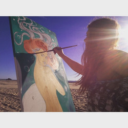 Oh how I miss painting on the beach, and everything about the waves, salt, and sand, I will be takin