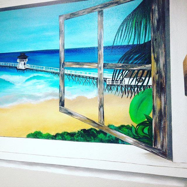 Details _) #coralynnarcandart #murals #painter #beachartist #travelingartist #oceanlover #sanclement