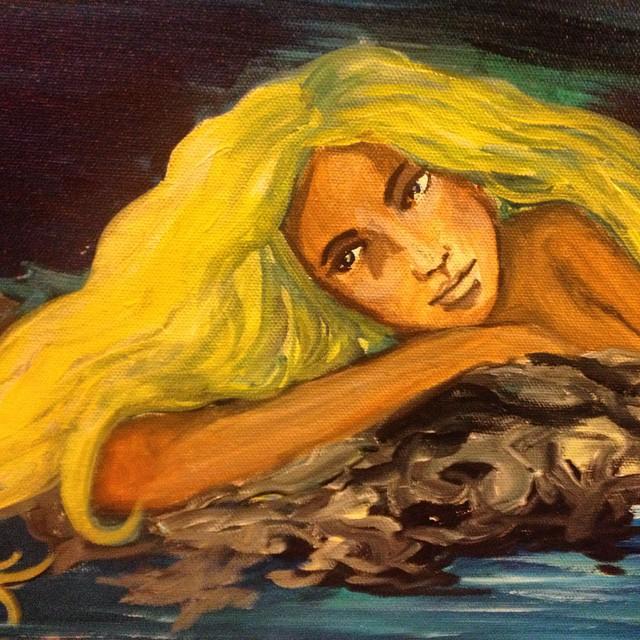 #mermaid #cali #vegas #localartist #coralynnarcandart #oceanlove #oceanmoon