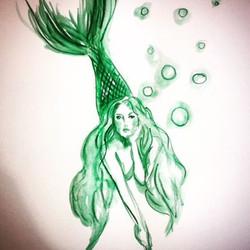 Got those dreamy ocean vibes! #coralynnarcandart #oceanlover #mermaid #artist #travelingartist #wate
