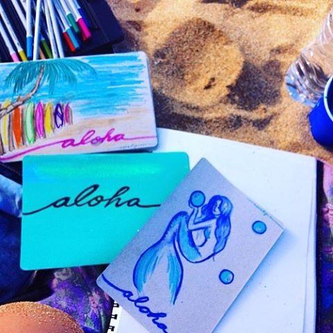 🌺ALOHA VIBES🌺 #coralynnarcandart #lahaina #napili #oceanlover #painter #postards #artist #beachart