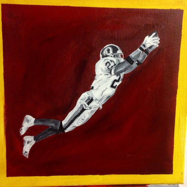 Almost done! #artist #art #coralynnarcandart #redskins #washingtonredskins #seantaylor #nfl #hail #b