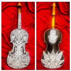 🎻🎻🎻CUSTOM INSTRUMENTS🎻🎻🎻 #art #violin #instrument #musicislife #coralynnarcandart #painter #cu