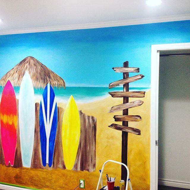 Burning that midnight acrylic again!! #coralynnarcandart #mural #artist #beachartist #coral #dowork