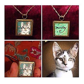 CUSTOM PET PORTRAIT JEWELRY!!! #art #artist #arts_help #create #custom #coralynnarcandart #kitten #c