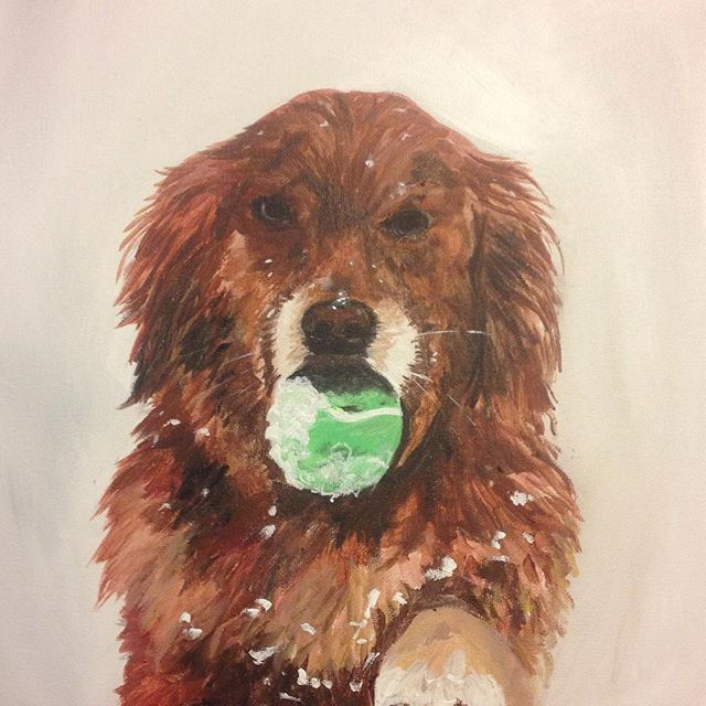 PUPPY PORTRAIT!!! dogs live forever in our hearts and also on canvas when you hire me to paint them!