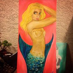 #mermaid for _kingzyus #coralynnarcandart #oceanlove #travelingartist #mauidreams #babe #blondie #be