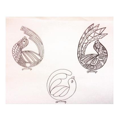 Can I design your logo or tattoo please_ K, thanks! #artistforhire #artist #birds #birdnerd #beach #