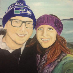 I am really honored my dear Friend hired me to paint these 2 love birds! I know my skills are improv