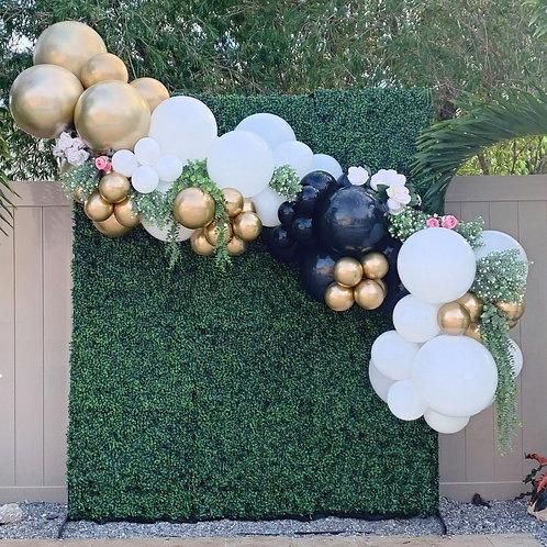 Wedding grass backdrop