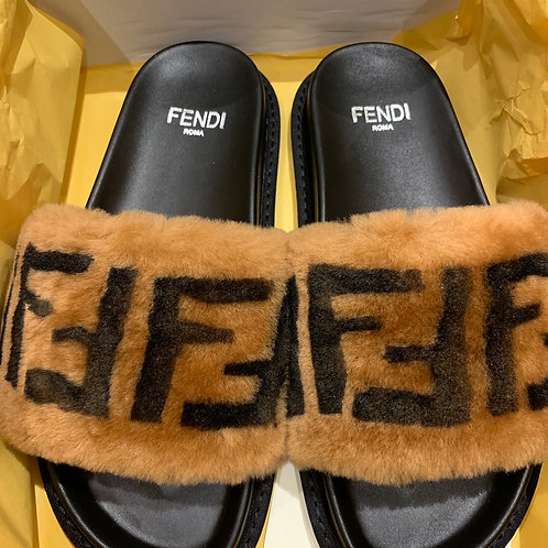 Brownie Fur Slides