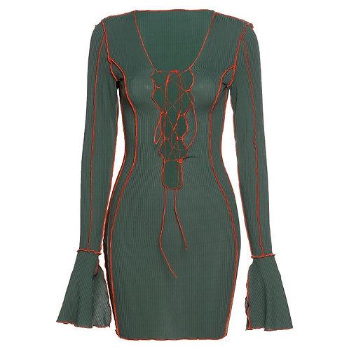 YANI LACE-UP DRESS