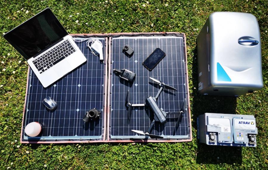 kit pannello solare da campeggio frigo batteria dispositivi elettrici