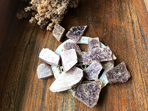 Lepidolite Raw Slices