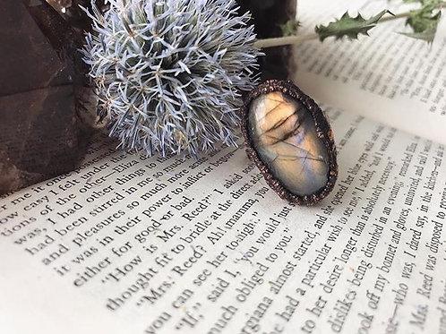 Mystic Labradorite Ring