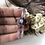 Thumbnail: Double terminated Vera Cruz amethyst crystal and moonstone necklace