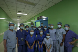 M.E.M.O. student volunteers spend the day shawdowing doctors and surgeries at the University Medical Center in Vietnam [From 13G]