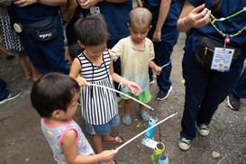 Every year when we visit orphanages, one part that we do is make toys for the children to make them happy!