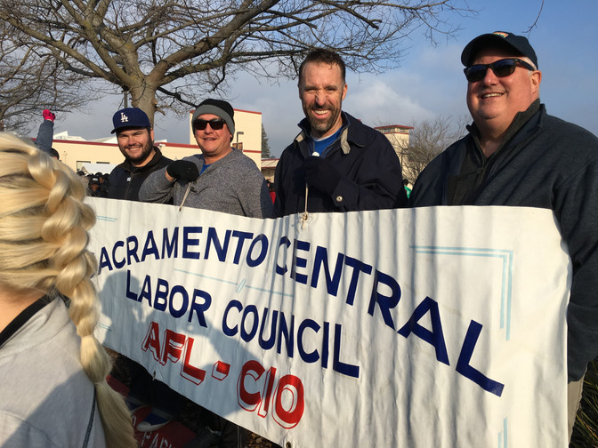 Thank you for joining the Sacramento Central Labor Council MLK Day March Team!