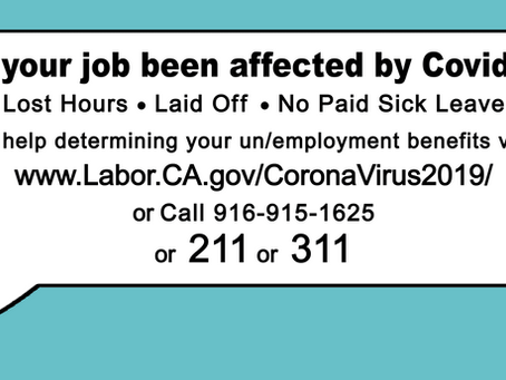 Helpline for Sacramento workers impacted by virus now available