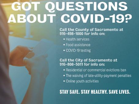 Sacramento County and City COVID-19 Hotline