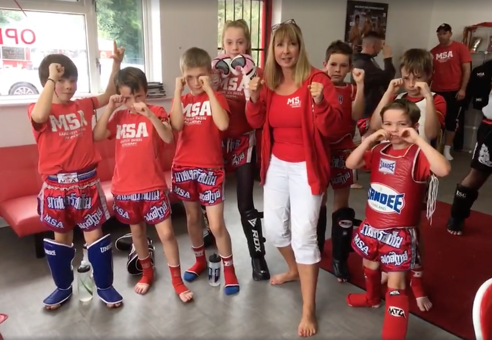Muay Thai Kids, Parkend preparing for Interclub