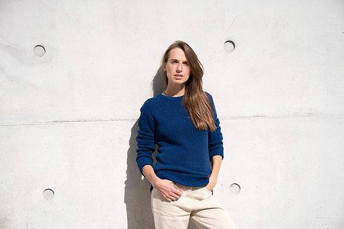 100% Hanf Pullover BLAU