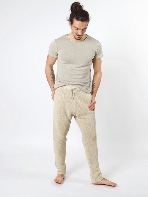 100% Hemp Knitted Pants NATURAL