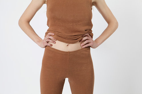 100% hemp leggings CACAO