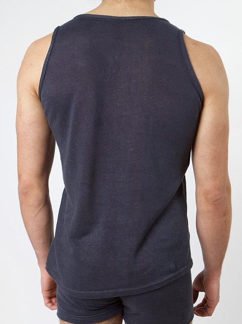 100% Hanf Unterhemd CHARCOAL