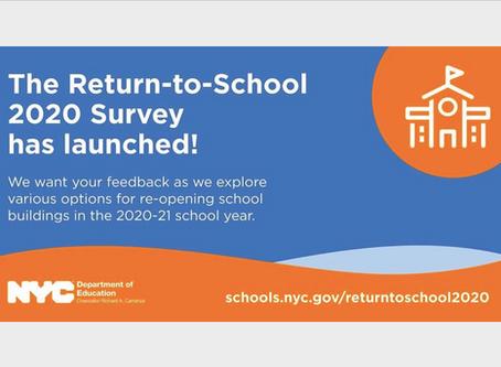 Presta tu voz a travez de la Encuesta de regreso a la escuela 2020