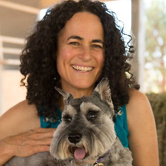 Maia Kincaid and the dog Elbi