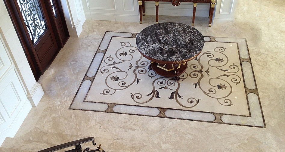 Decorative Floor Inlays : Waterjet services in south florida