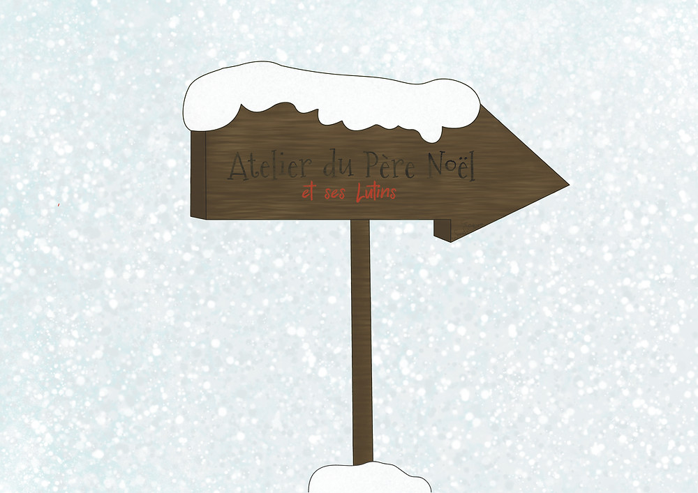 Panneau de bois recouvert de neige