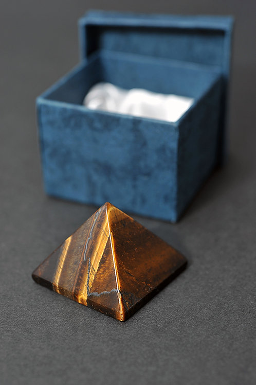 Pyramide Oeil de tigre - Pyramide pierre