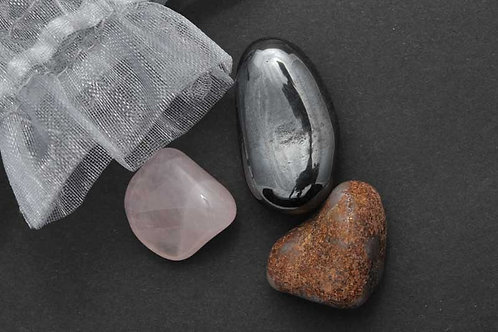 Pochette pierres anti stress