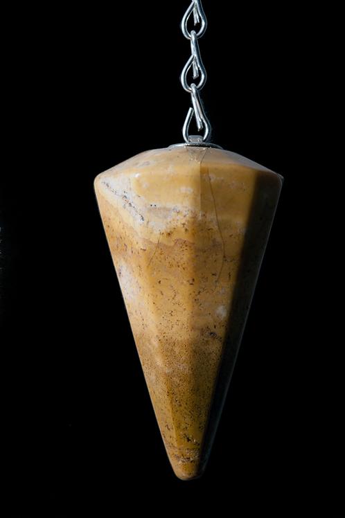 Pendule pierre cône  jaspe