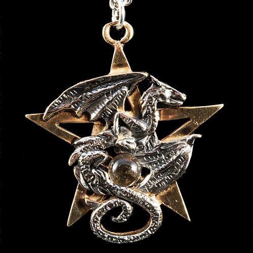 Pendentif Pentacle du dragon