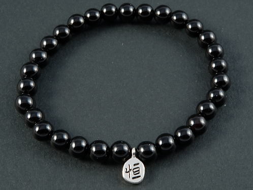Bracelet onyx pierres roulées