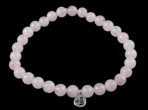 Bracelet quartz rose pierres roulées