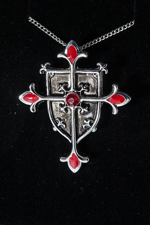 Pendentif Templier le bouclier croix