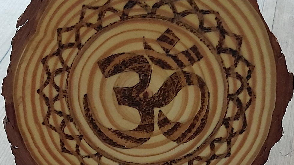 OM Pyrography Plaque