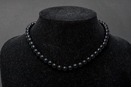 Collier obsidienne - Collier Oeil celeste