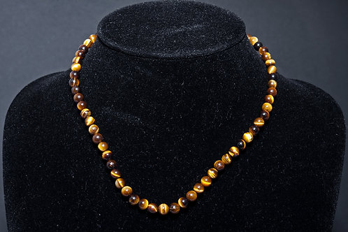 Collier œil de tigre 6mm